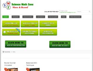 sciencemathzone.com screenshot