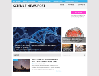 sciencenewspost.com screenshot
