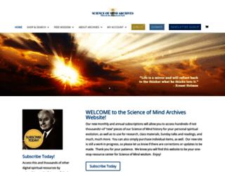scienceofmindarchives.org screenshot