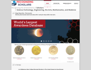 scienceprizes.org screenshot