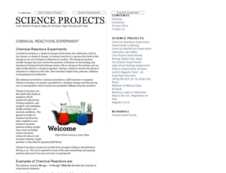 scienceprojects.in screenshot