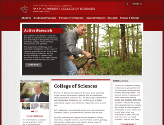 sciences.louisiana.edu screenshot
