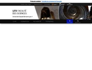 sciences.univ-lyon1.fr screenshot