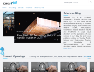 sciencesblog.org screenshot