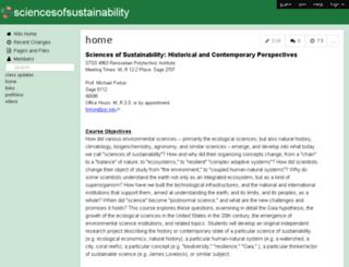 sciencesofsustainability.wikispaces.com screenshot