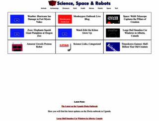 sciencespacerobots.com screenshot