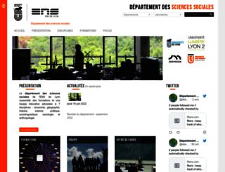 sciencessociales.ens-lyon.fr screenshot