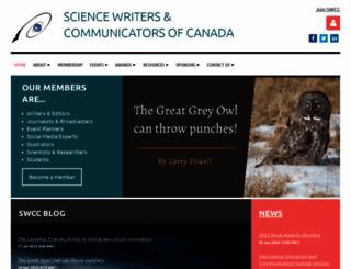 sciencewriters.ca screenshot