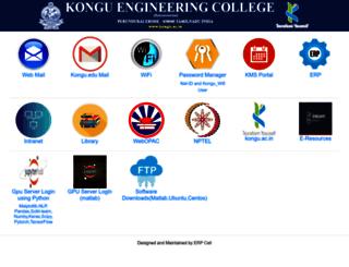 sciensea2k12.kongu.edu screenshot