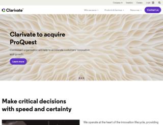scientific.thomson.com screenshot