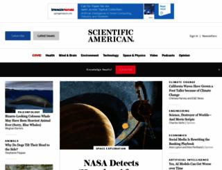 scientificamerican.com screenshot