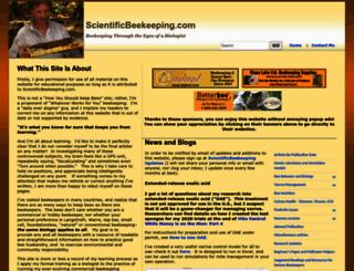 scientificbeekeeping.com screenshot