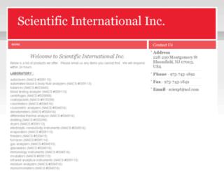 scientificintl.com screenshot