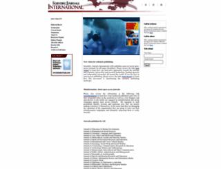 scientificjournals.org screenshot