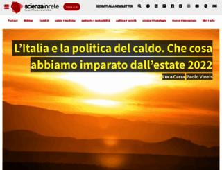 scienzainrete.it screenshot