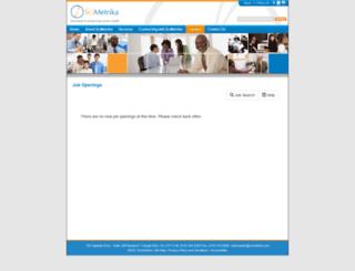 scimetrika.submit4jobs.com screenshot