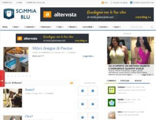 scimmiablu.altervista.org screenshot