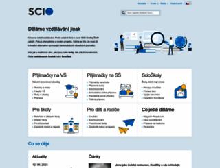 scio.cz screenshot
