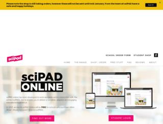scipad.co.nz screenshot