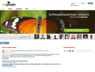 scipeople.com screenshot