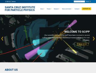 scipp.ucsc.edu screenshot