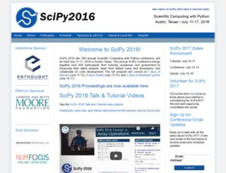 scipy2016.scipy.org screenshot