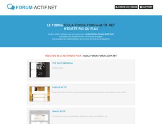scola-forum.forum-actif.net screenshot