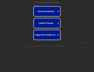 scoliosis-support.org screenshot