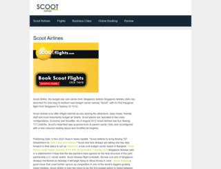 scootairline.com screenshot