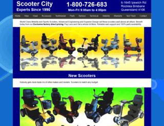 scootercity.com.au screenshot