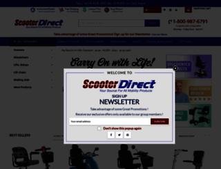 scooterdirect.com screenshot