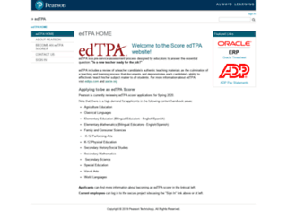 scoreedtpa.pearson.com screenshot