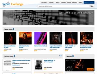 scoreexchange.com screenshot