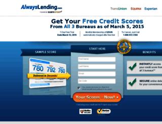 scores.alwayslending.com screenshot