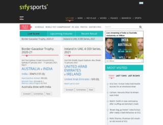 scores.sify.com screenshot