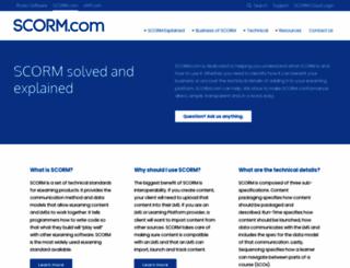 scorm.com screenshot