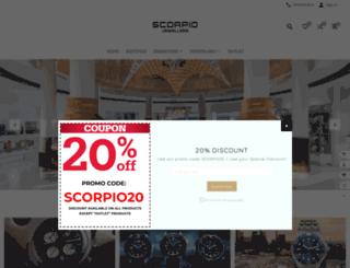 scorpiojewellers.com screenshot