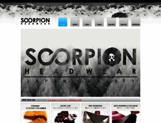 scorpion-headwear.com screenshot
