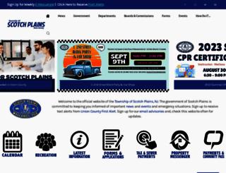 scotchplainsnj.gov screenshot