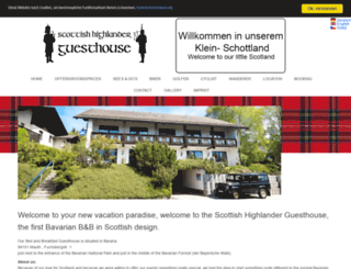 scottish-highlander-guesthouse.de screenshot