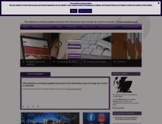 scottish.parliament.uk screenshot
