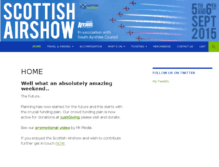 scottishairshow.com screenshot