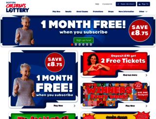 scottishchildrenslottery.com screenshot