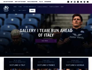 scottishrugby.org screenshot