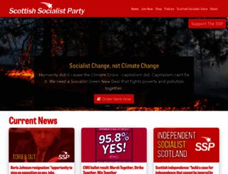 scottishsocialistparty.org screenshot