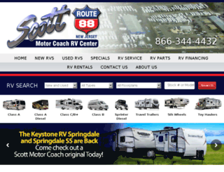 scottmotorcoach.com screenshot