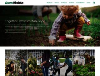 scottsmiraclegro.com screenshot