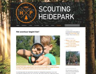 scoutingheidepark.nl screenshot