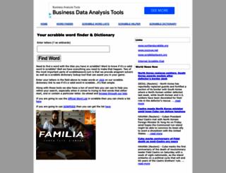 scrabbleaword.com screenshot