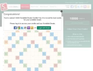 scrabblecheats.com screenshot